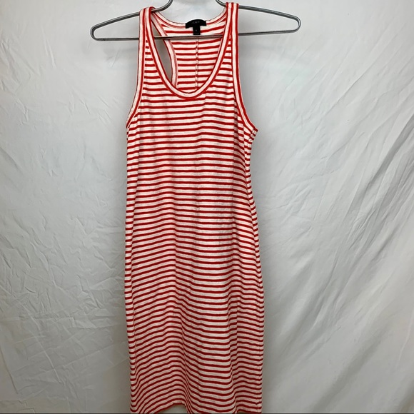 J. Crew Dresses & Skirts - J.Crew red striped racer back dress, size small